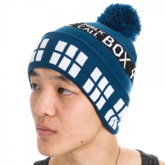 42019f17ee9 Doctor Who TARDIS Beanie Hat Police Box